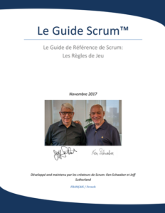 Scrum Guide Français 2017 - couverture