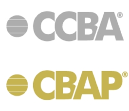 CCBA - CBAP Certification Logo