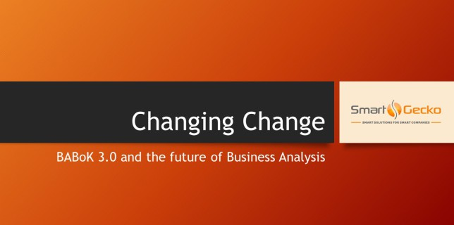BABoK 3.0 -Changing Change Presentation Cover
