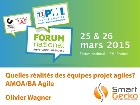 Logo Forum PMI National 2015 AMOA agile