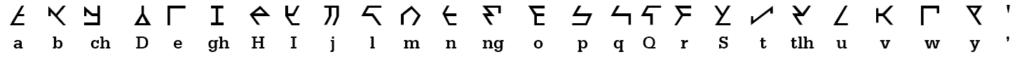 Klingon Block - Font sample
