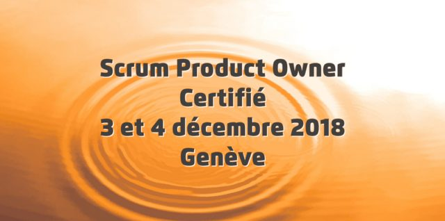 Scrum Product Owner 2018-12-03 - Affiche