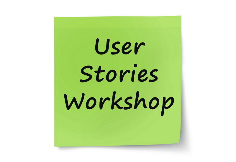 User Stories Workshop - Sticky note