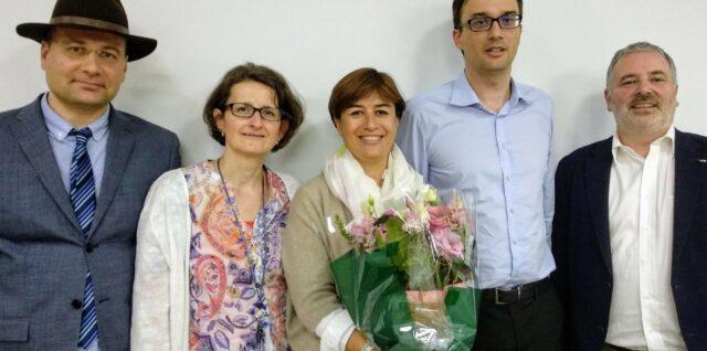Comité IIBA Genève avec Karine Cabourg, Mihnea Nicoulescou, Valérie Buiron Bouchet, Claude Duc et Oliver Wagner - photo de groupe